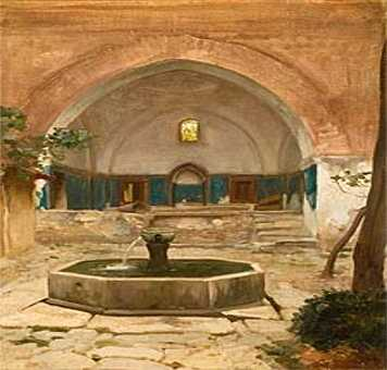 Arab courtyard