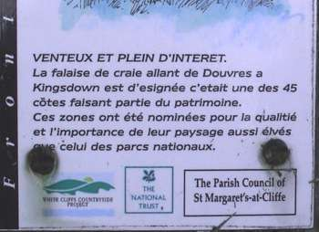 National Trust sign in French